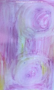 mixed media background watercolour crayons beginners