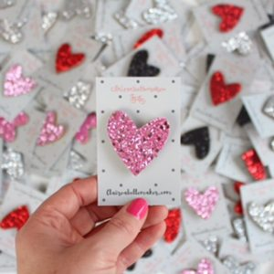 pink glitter heart pin create nourish inspire follow dreams follow passion creativity chronic illness chronic migraine