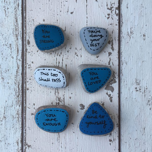 This too shall pass hand painted affirmation pebbles