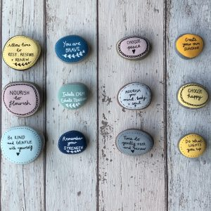 Hand-painted Positive Affirmation Stone Pebble Sets