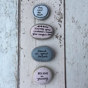 Believe in yourself hand painted affirmation pebbles