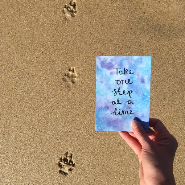 'Take one step at a time' Individual Postcard