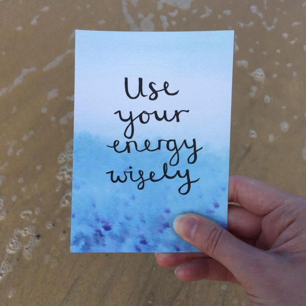 'Use your energy wisely' Individual Postcard