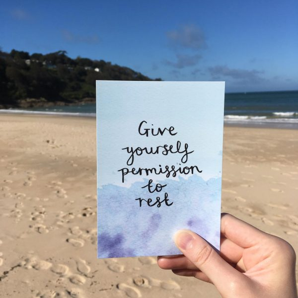 'Give Yourself Permission to Rest' Individual Postcard