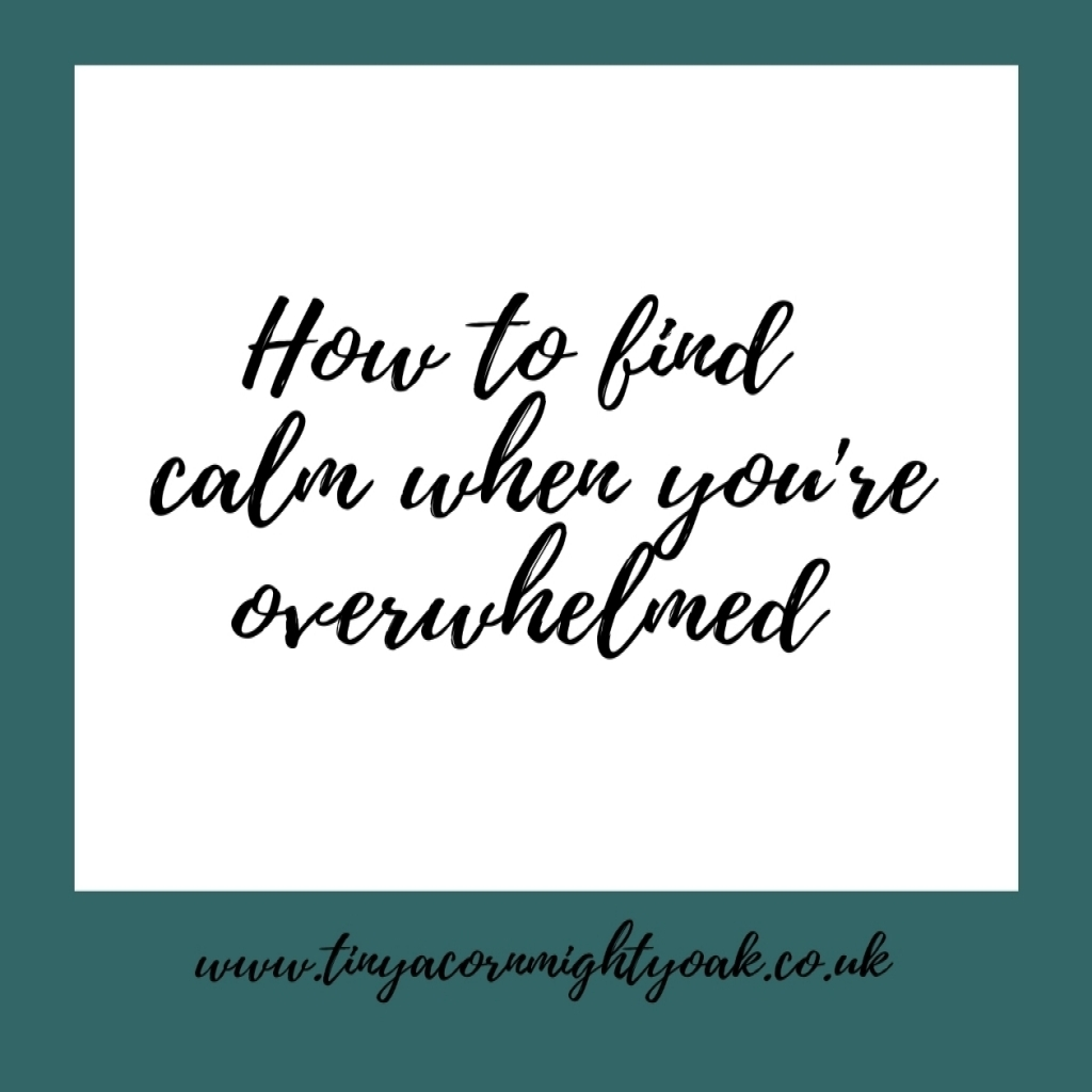 Nourish: How to find calm when you're overwhelmed