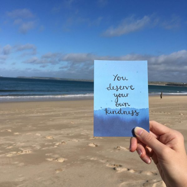 'You deserve your own kindness' Individual Postcard