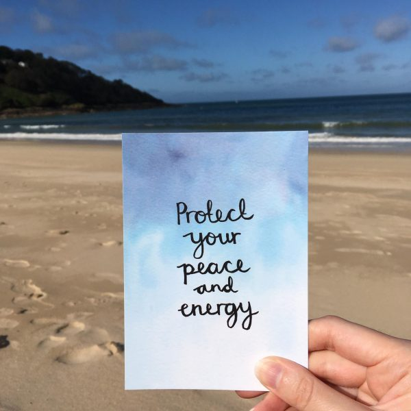 'Protect your peace and energy' Individual Postcard
