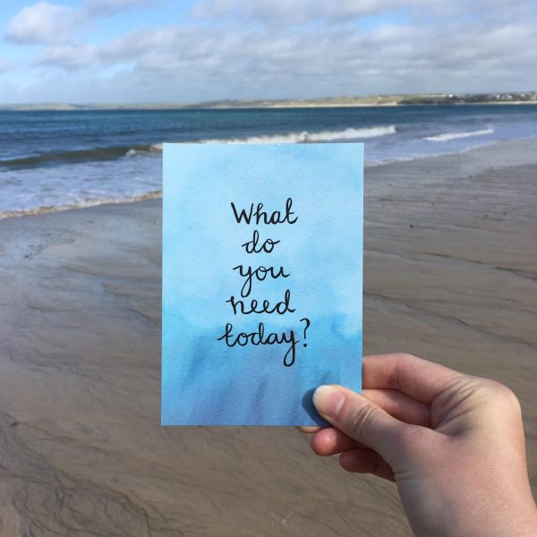 'What do you need today?' Individual Postcard