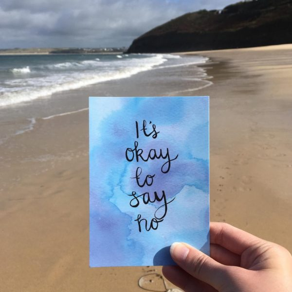 'It's okay to say no' Individual Postcard