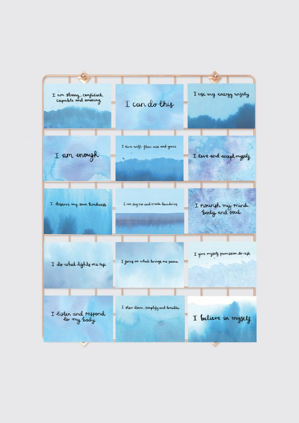 'Inner Peace, Self-Care & Confidence' Positive Affirmation Cards - Set of 15