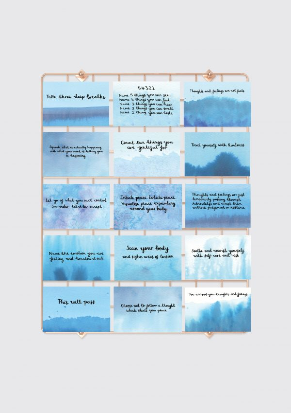 'Calm and Mindful' Positive Affirmation & Mindful Cards - Set of 15