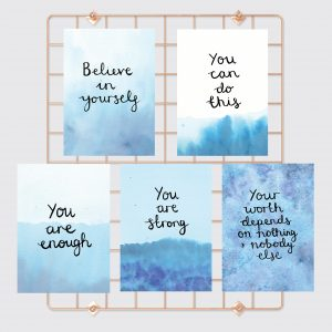 Believe in yourself motivational inspirational positive affirmation postcard set