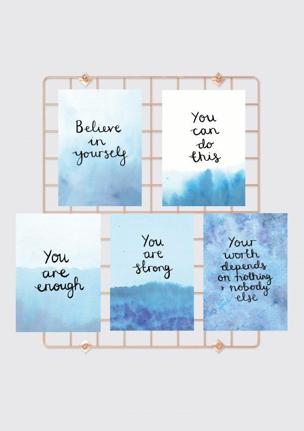Believe in yourself motivational inspirational positive affirmation postcard set