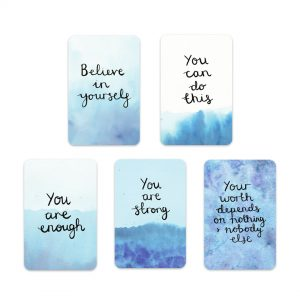 Believe in yourself motivational inspirational positive affirmation sticker set