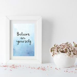 Believe in yourself motivational inspirational positive affirmation postcard