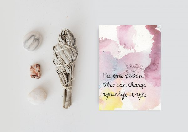 Change your life motivational inspirational postcard
