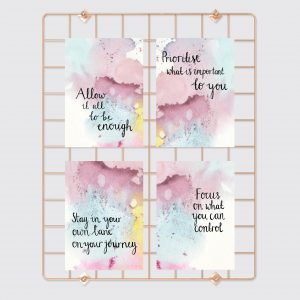 Allow it all to be enough motivational inspirational postcard set