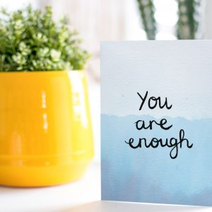 You are enough motivational inspirational positive affirmation greeting card