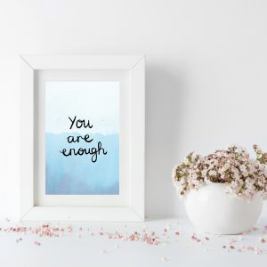 You are enough motivational inspirational positive affirmation postcard