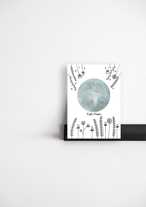 Moon phases cards