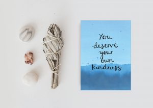 Self-kindness motivational inspirational positive affirmation postcard