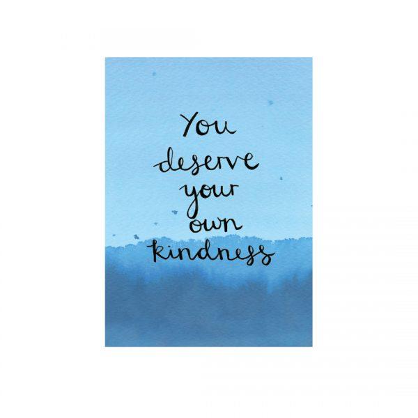 Self-kindness motivational inspirational positive affirmation