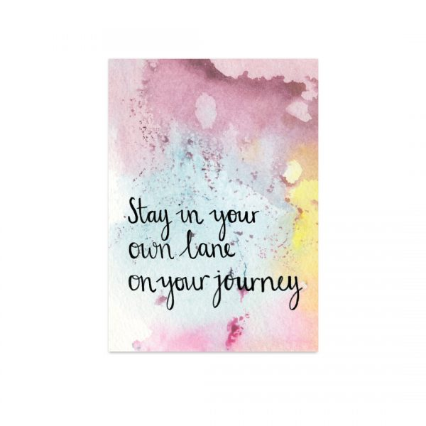 Stay in your own lane motivational inspirational