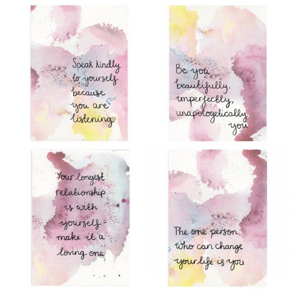 Be you motivational inspirational postcard set