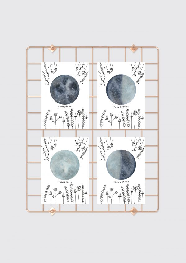 Moon phase cards