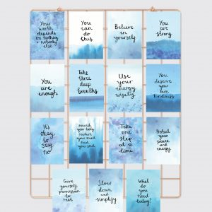 Mini positive affirmation Card Set of 15 - Nourishing Self-Care, Overwhelm to Calm & Believe in Yourself