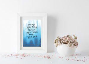 Nourishing self-care motivational inspirational positive affirmation postcard