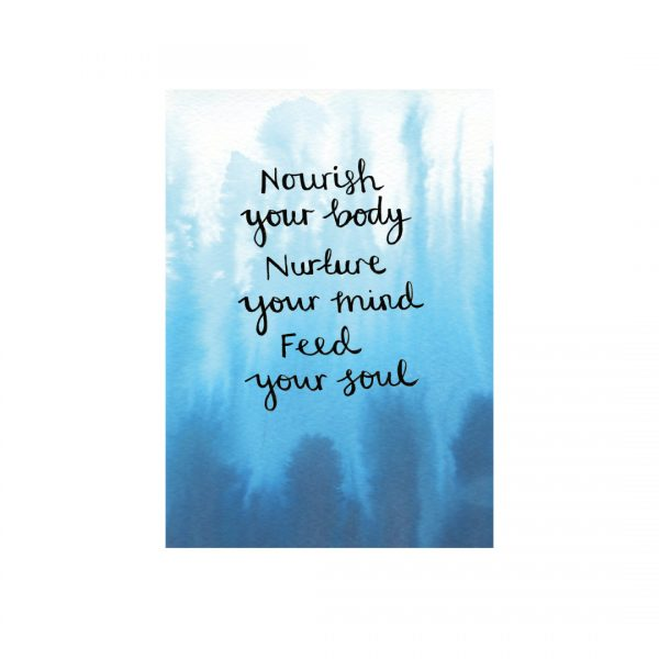 Nourishing self-care motivational inspirational positive affirmation
