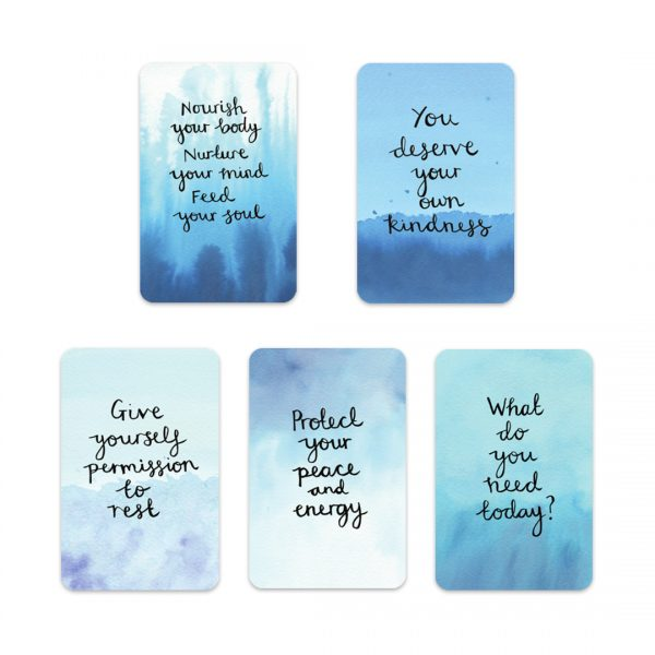 Nourishing self-care motivational inspirational positive affirmation sticker set