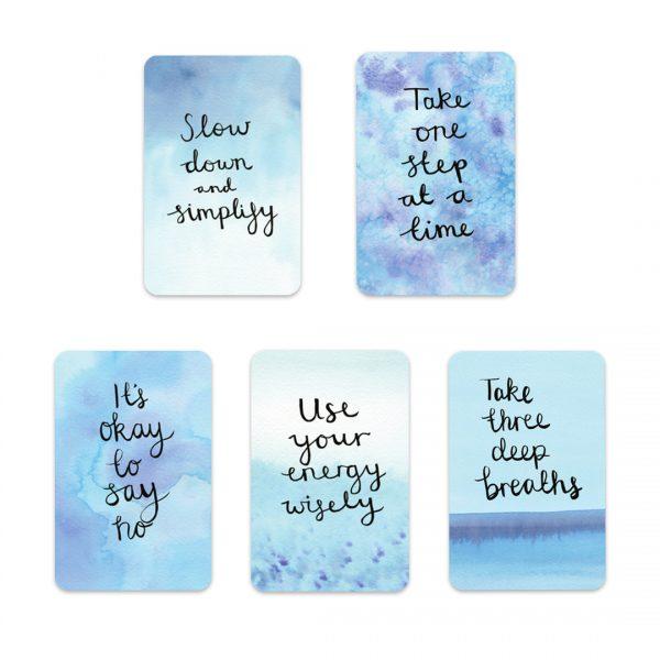 Overwhelm to calm motivational inspirational positive affirmation sticker set