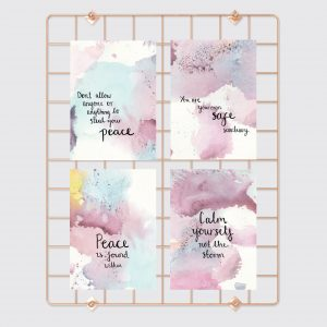 Find peace within motivational inspirational postcard set