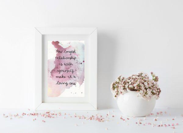 Self-love inspirational motivational postcard