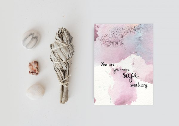 Safe sanctuary motivational inspirational postcard