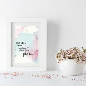 Find peace inspirational motivational postcard
