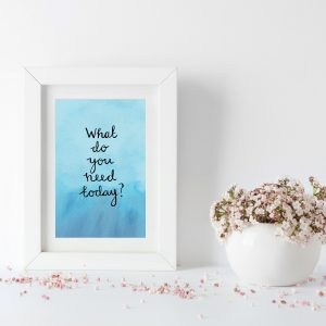 What do you need today motivational inspirational positive affirmation postcard