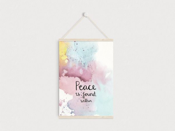 Peace is within you motivational inspirational A5 print