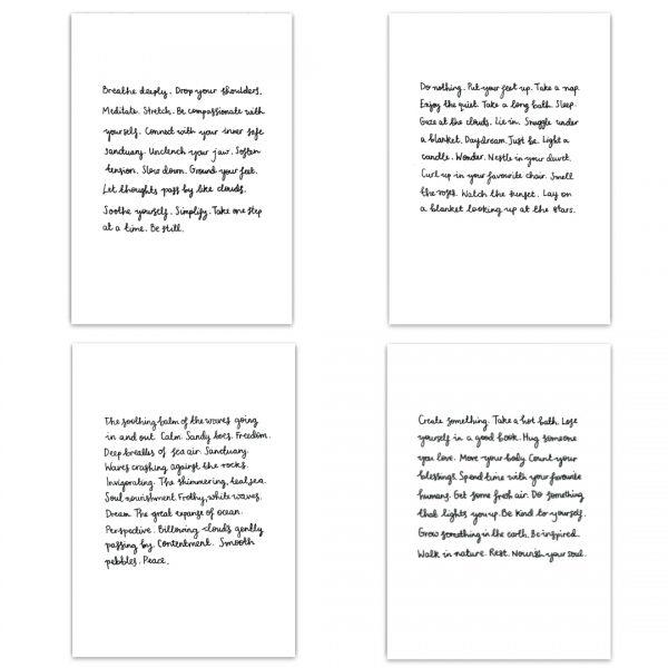 'Calm, Rest, Self-Care & The Sea' Postcards - Set of 4