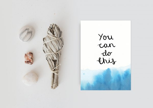 You can do this motivational inspirational positive affirmation postcard