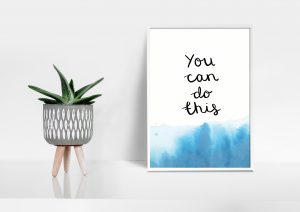 You can do this motivational inspirational positive affirmation A5 print