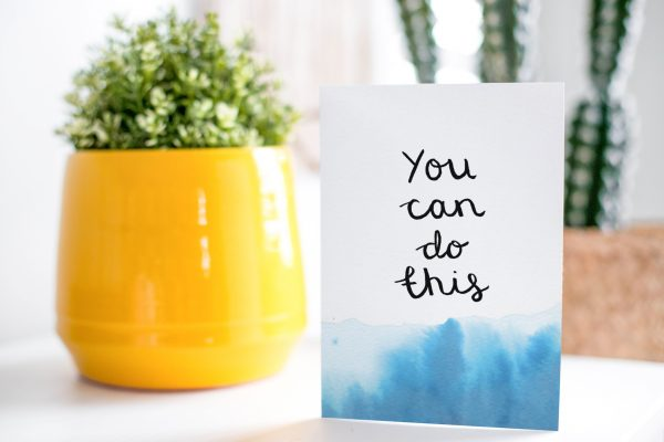You can do this motivational inspirational positive affirmation greeting card