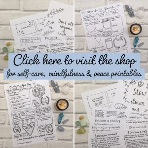 Self-care mindfulness printables