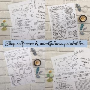 Self-care and mindfulness printables shop