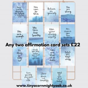 Affirmation card offer