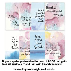 Surprise Postcard Set - Buy 1 get 1 free sent to a friend